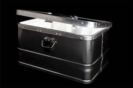 silver box - A metal box Stock Photo - Premium Royalty-Free, Code: 653-02001961
