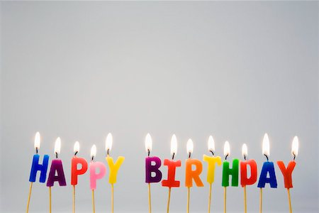 Candles spelling 'Happy Birthday' Stock Photo - Premium Royalty-Free, Code: 653-02078707