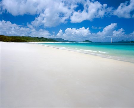 queensland - Whitehaven Beach, Whitsunday Island, Australia Stock Photo - Premium Royalty-Free, Code: 653-02078827