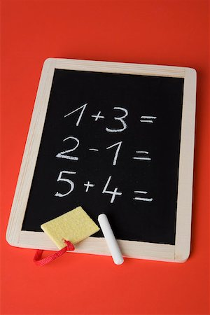 slate - A chalkboard with math problems written on it Stock Photo - Premium Royalty-Free, Code: 653-02260376