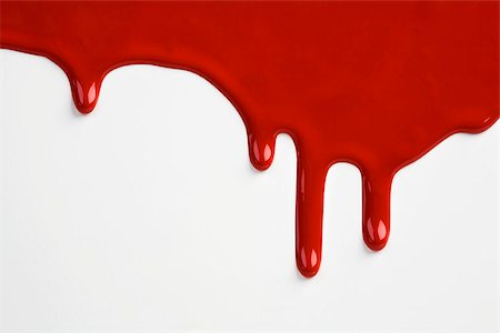 dripping blood - Red paint dripping down a white wall Stock Photo - Premium Royalty-Free, Code: 653-02634317