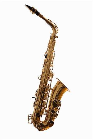 A saxophone, studio shot Stock Photo - Premium Royalty-Free, Code: 653-02634566