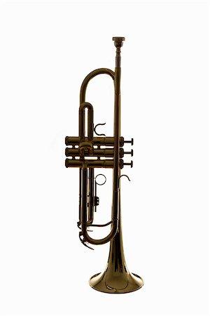 A trumpet, studio shot Stock Photo - Premium Royalty-Free, Code: 653-02634570