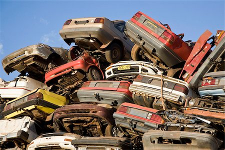 Scrap yard Stock Photo - Premium Royalty-Free, Code: 653-02834576