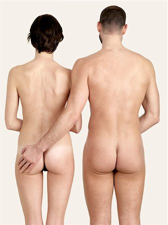 A naked couple standing side by side Stock Photo - Premium Royalty-Free, Code: 653-02834836