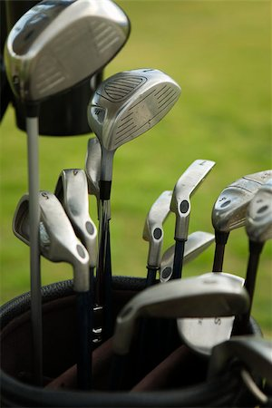 Detail of golf clubs in a golf bag Stock Photo - Premium Royalty-Free, Code: 653-02835674