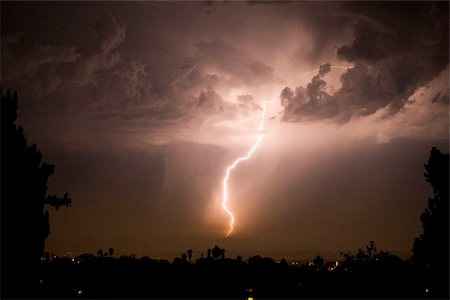storm lightning - A lightening bolt Stock Photo - Premium Royalty-Free, Code: 653-02835691