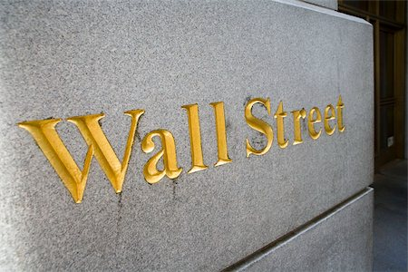 stock exchange building - Sign for 'Wall Street', Manhattan, New York City Stock Photo - Premium Royalty-Free, Code: 653-02835915