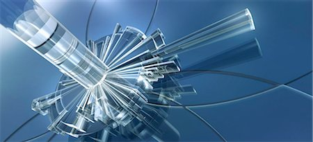 Blue abstract shapes Stock Photo - Premium Royalty-Free, Code: 653-03079063