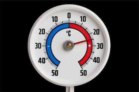 A temperature gauge Stock Photo - Premium Royalty-Free, Code: 653-03079303