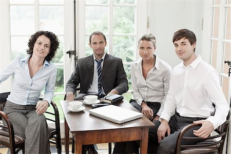 planner - Portrait of business colleagues in a meeting Stock Photo - Premium Royalty-Free, Code: 653-03334242