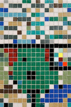 Detail of colored tiles Stock Photo - Premium Royalty-Free, Code: 653-03333784