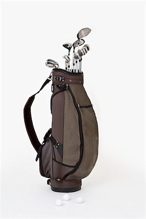 A set of golf clubs Stock Photo - Premium Royalty-Free, Code: 653-03333979