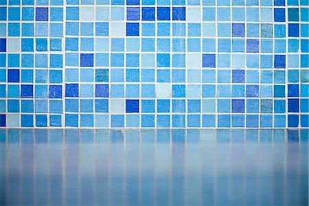 Detail of blue tiles Stock Photo - Premium Royalty-Free, Code: 653-03459162