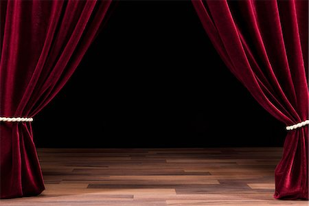 An Empty Theatre Stage Stock Photo - Premium Royalty-Free, Code: 653-03459743