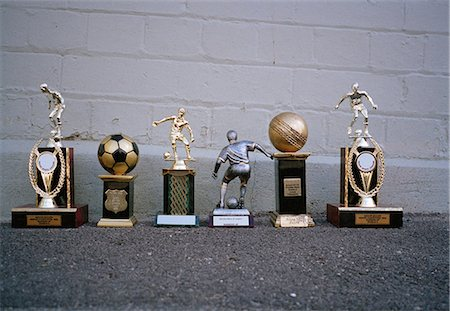 Various sports trophies Stock Photo - Premium Royalty-Free, Code: 653-03575259