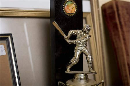 Detail of a cricket trophy Stock Photo - Premium Royalty-Free, Code: 653-03575268