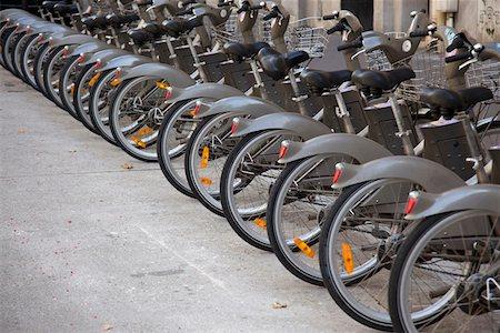 renting - Velib bicycles in Paris, France Stock Photo - Premium Royalty-Free, Code: 653-03706541