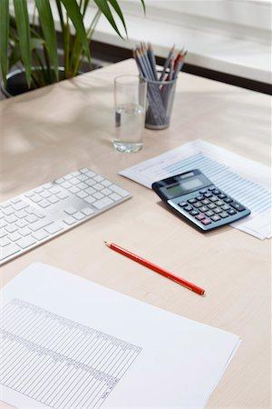 Desk of invoice equipment Stock Photo - Premium Royalty-Free, Code: 653-03844351