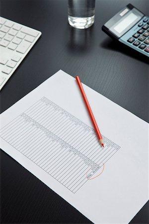 Desk of invoice equipment Stock Photo - Premium Royalty-Free, Code: 653-03844367