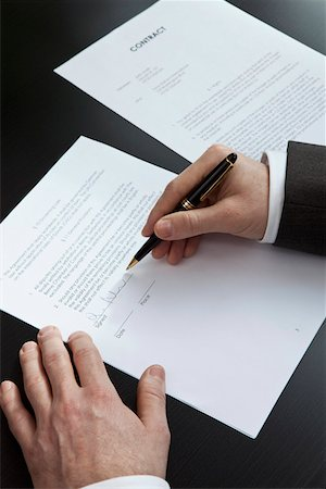 Lease signature Stock Photo - Premium Royalty-Free, Code: 653-03844389