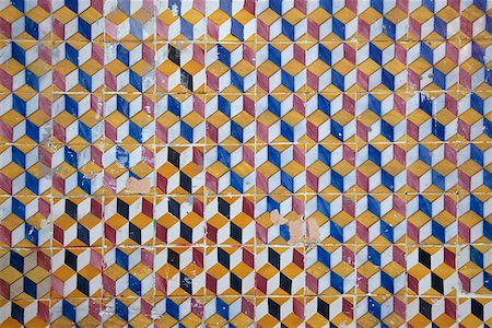 Patterned wall tiles Stock Photo - Premium Royalty-Free, Code: 653-03843225