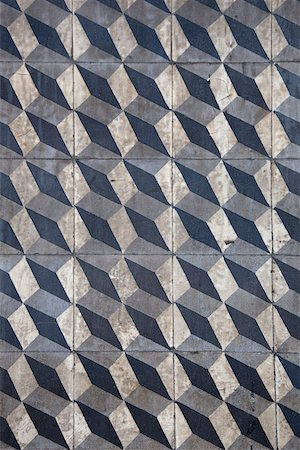 Detail of a tiled concrete wall Stock Photo - Premium Royalty-Free, Code: 653-03843249