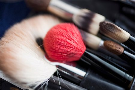 set - Detail of a professional make-up brush set Stock Photo - Premium Royalty-Free, Code: 653-03843332