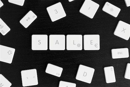 Computer keys spelling the word SALE Stock Photo - Premium Royalty-Free, Code: 653-03843494