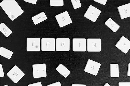 Computer keys spelling the word LOGIN Stock Photo - Premium Royalty-Free, Code: 653-03843493