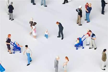 A group of miniature figurines Stock Photo - Premium Royalty-Free, Code: 653-03843559