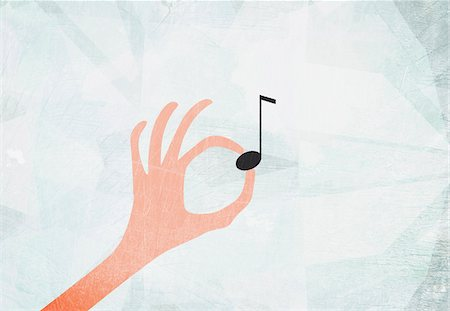 pic music note symbol - A hand holding a musical note Stock Photo - Premium Royalty-Free, Code: 653-03843968