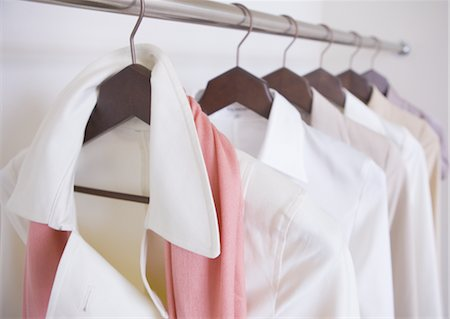Clothes on hangers Stock Photo - Premium Royalty-Free, Code: 669-03708581