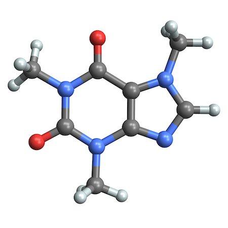 Caffeine molecule Stock Photo - Premium Royalty-Free, Code: 679-04249833