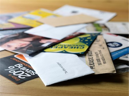 print - Junk mail Stock Photo - Premium Royalty-Free, Code: 679-04249995