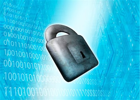 Internet security, conceptual artwork Stock Photo - Premium Royalty-Free, Code: 679-04250235