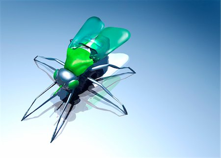 Robotic fly, artwork Stock Photo - Premium Royalty-Free, Code: 679-04250249