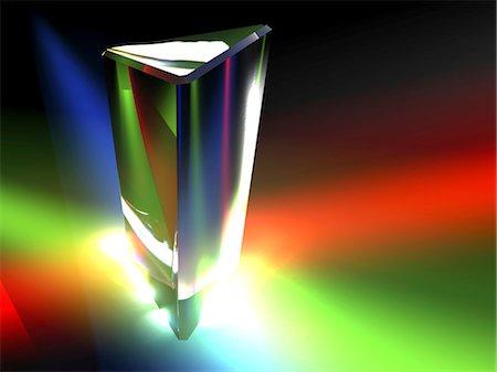 refraction - Prism, light spectrum Stock Photo - Premium Royalty-Free, Code: 679-04250499