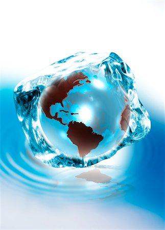 Ice age, conceptual artwork Stock Photo - Premium Royalty-Free, Code: 679-04250766