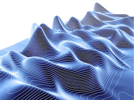 3D surface graph, computer artwork Stock Photo - Premium Royalty-Free, Code: 679-04250822