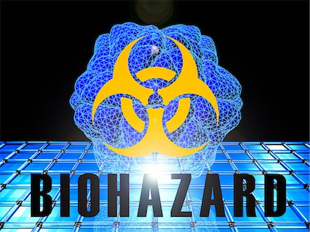 Biohazard, conceptual artwork Stock Photo - Premium Royalty-Free, Code: 679-04251082