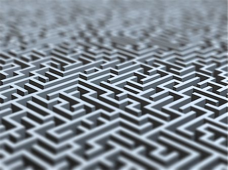 Maze, artwork Stock Photo - Premium Royalty-Free, Code: 679-05797173