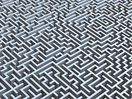Maze, artwork Stock Photo - Premium Royalty-Free, Code: 679-05797191