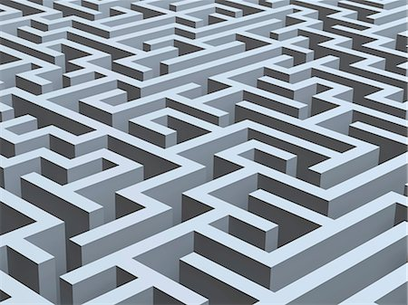 Maze, artwork Stock Photo - Premium Royalty-Free, Code: 679-05797193