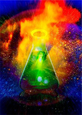 reaction - Big bang chemistry, conceptual artwork Stock Photo - Premium Royalty-Free, Code: 679-05797559