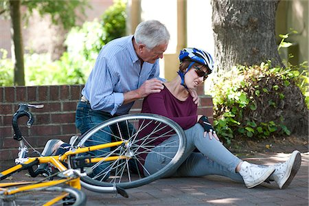 Cycling accident Stock Photo - Premium Royalty-Free, Code: 679-05797734