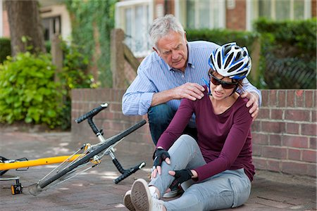 falling - Cycling accident Stock Photo - Premium Royalty-Free, Code: 679-05797735
