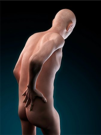 Back pain, conceptual artwork Stock Photo - Premium Royalty-Free, Code: 679-05797981