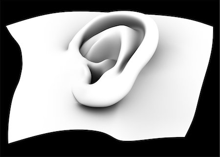 Ear, artwork Stock Photo - Premium Royalty-Free, Code: 679-05798461