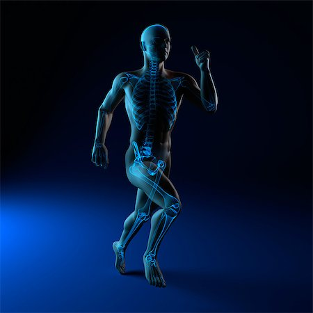 sprint - Running skeleton, artwork Stock Photo - Premium Royalty-Free, Code: 679-05798669